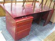 Sale 7944A - Lot 1026 - Timber Desk with Return & Drawers