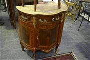Sale 8031 - Lot 1095 - Marble Top Chest w Single Door & Drawer