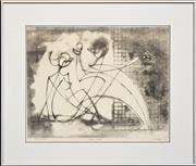 Sale 8282A - Lot 71 - Frank Hinder (1906 - 1992) - Adam & Evil, 1982 35 x 45cm
