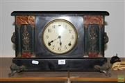 Sale 8256 - Lot 99 - Sessions Timber Mantle Clock