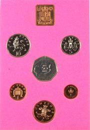 Sale 8299C - Lot 521 - THE COINAGE OF GREAT BRITAIN AND NORTHER IRELAND; 6 coin proof set 1973 in original envelope of issue.