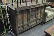 Sale 8326 - Lot 1251 - Heavily Carved Dowry Chest