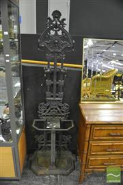 Sale 8380 - Lot 1006 - Cast Metal Hall Stand