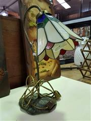 Sale 8462 - Lot 1093 - Leadlight Shade Table Lamp