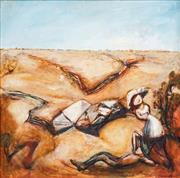 Sale 8558 - Lot 549 - Garry Shead (1942 - ) - Stockman Dreaming, 1989 89.5 x 89.5cm