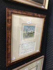 Sale 8674 - Lot 2037 - Lance Solomon - Countryscape with Cottage, original ink and watercolour, 8.5 x 9.5cm, signed lower left -