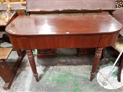 Sale 8740 - Lot 1644 - D-Shaped Hall Table with Single Drawer