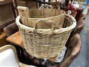 Sale 8896 - Lot 1033 - Cane Basket & Another