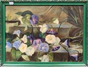 Sale 9008 - Lot 2008 - An Early Floral Still Life, oil, frame: 40 x 52 cm