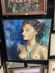 Sale 9045 - Lot 2035 - Jane Park, Blue Strands, acrylic on board, 62.5 x 62.5 cm, signed lower right