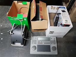 Sale 9176 - Lot 2303 - Three boxes of Electrical Sundries  Film Editing Equipment & Eumig Projector