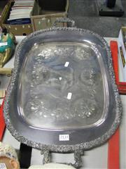 Sale 7977 - Lot 39 - Large EP Double Handled Tray