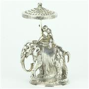 Sale 8264 - Lot 11 - Christofle Elephant Toothpick Holder