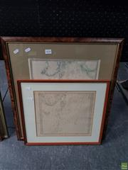 Sale 8609 - Lot 2058 - Pair of Framed Maps