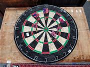 Sale 8676 - Lot 1076 - Dart Board incl. Great Britain & USA Darts