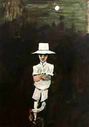 Sale 8695A - Lot 5011 - Charles Blackman (1928 - 2018) - Charles in White 91 x 66.5cm