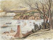 Sale 8936 - Lot 2036 - Cedric Emanuel (1906 - 1995) - Stormy Weather, Camp Cove Watsons Bay, Sydney,Harbour, 1982 36 x 48 cm