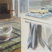 Sale 8884A - Lot 5005 - Melissa Selby Brown - Folding and Laundry Basket , 2008 60 x 60 cm
