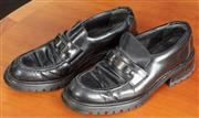 Sale 9044H - Lot 59 - A pair of Prada block shoes/loafers with buckle 36.5 worn
