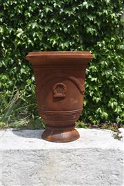 Sale 9087H - Lot 227 - A cast iron French style urn. 70cm height, 55cm diameter