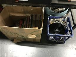 Sale 9106 - Lot 2199 - Large collection of records in box & crate