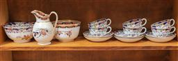 Sale 9120H - Lot 187 - A group of Copeland graduated bowls and a jug (repaired) together with a cup and saucer set in similar pattern.