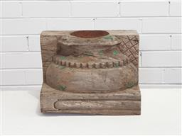 Sale 9154 - Lot 1085 - Rustic timber Indonesian style candleholder (h24 x w34 x d23cm)