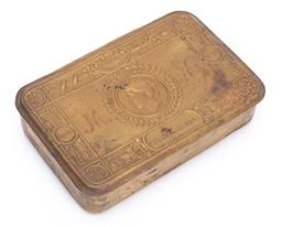 Sale 9185E - Lot 77 - An imperial brittanicum tobacco tin marked Christmas 1914