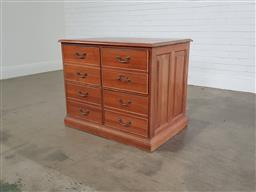 Sale 9255 - Lot 1229A - Timber 4 drawer filer chest (h77 x w95 x d66cm)