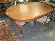 Sale 7931A - Lot 1186 - Timber D End Dining Table