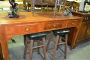 Sale 8093 - Lot 1306 - Timber 3 Drawer Desk