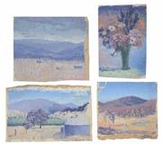 Sale 8161A - Lot 44 - Theodore Kenneth Potts (XX) (4 works) - Still Life & Country Scenes, c.1950 various sizes