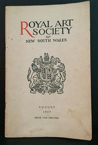 Sale 8176A - Lot 96 - Catalogue Royal Art Society of New South Wales. August 1937. Illustrated.