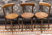 Sale 8222 - Lot 70 - A set of three timber dining chairs Film Provenance; Australia, 2008