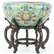 Sale 8273 - Lot 23 - Cloisonne Floral Censer on Stand
