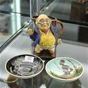 Sale 8369 - Lot 22 - Burleigh Ware Mr Pickwick Jug with Two Martin Boyd Dishes