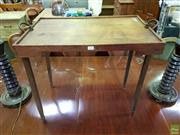 Sale 8611 - Lot 1090 - Small Vintage Folding Table
