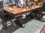 Sale 8787 - Lot 1087 - Oak Refectory Style Extension Dining Table with Pie Crust Edge