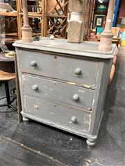 Sale 8854 - Lot 1035 - Rustic Painted Timber Chest Of Three Drawers