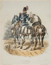 Sale 8870 - Lot 2055 - Francois Hippolyte Lalaisse (1812 - 1884) - Type Militaries, train de Equipages 38 x 29.5cm
