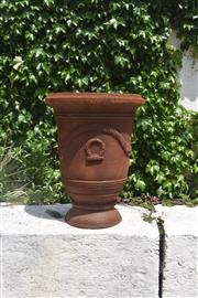 Sale 9087H - Lot 228 - A cast iron French style urn. 70cm height, 55cm diameter
