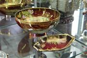 Sale 8169 - Lot 52 - Carlton Ware Rouge Royale Spiders Web Bowl & Oval Dish