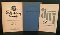 Sale 8176A - Lot 97 - Three Catalogues,  Australian Watercolour Institute 25th Annual Exhibition 1948,  Exhibition of Paintings by Five Australian Artists...