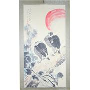Sale 8268 - Lot 12 - Tang Yun Signature Birds Watercolour Scroll