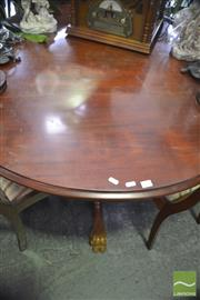 Sale 8305 - Lot 1086 - Circular Timber Dining Table on Claw Feet