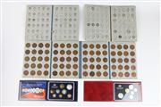 Sale 8391 - Lot 8 - Australian Royal Mint Proof Coin Sets with Pre-Decimal Albums with Coins