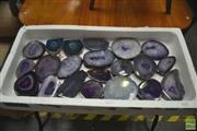 Sale 8406 - Lot 1131 - Tray Of Purple Agate Slices