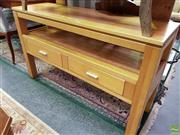 Sale 8566 - Lot 1194 - Timber Two Drawer Sideboard