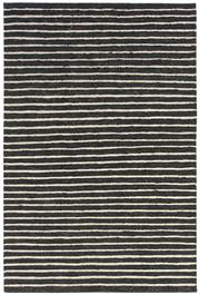 Sale 8651C - Lot 80 - Colorscope Collection; Flatweave Jute and Wool - Black/White Stripe Rug, Origin: India, Size: 160 x 230cm, RRP: $499