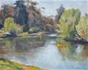 Sale 8867A - Lot 5073 - Joshua Smith (1905 - 1995) - Calm Waters, Lane Cover River, 1981 39 x 49cm